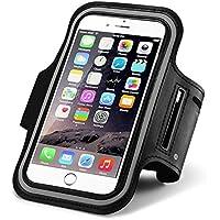 Apple iPhone6s, 6,5s, 5°C, 5için spor kol (11,9cm), Galaxy S3, S4, Gym Running ter-Bileklik paket Ekran Koruyucu Film çantaya Touch anahtar tutucu, siyah