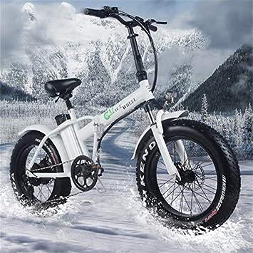 WYFDM Bicicleta Eléctrica 20 Pulgadas Ciclomotor 48 V Bicicleta De ...