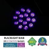 SUNVIE 30W Black lights with 2W×15LEDs UV LED Bulbs, Par38 Spotlight E26 Medium Base