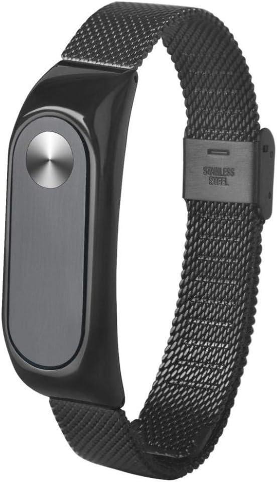 Correas de Relojes, Hanyixue Correa mi Band 2 Pulsera Ligera de Acero Inoxidable de Moda Correa de Reloj Inteligente para Xiaomi MI Band 2
