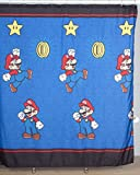 "Nintendo ""Super Mario Simply The Best"" Microfiber Shower Curtain, 70 by 72-Inch"