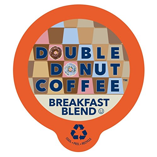 Double Donut Breakfast Blend Coffee, in Recyclable Single Serve Cups for Keurig K-Cup Brewers, 80 Count