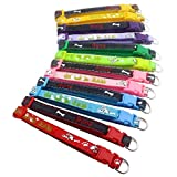 YOY 12 pcs/set Soft Nylon Puppy Whelping ID Collars - Adjustable Reusable Washable Baby Dog ID Bands Pet Identification for Breeders, Neck 8'' - 14''