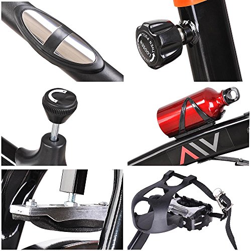 GHP Black LCD Display Chain-drive Mechanism Exercise Bike