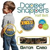Dapper Snapper Made in USA Baby & Toddler Adjustable Belt-Gator Camo