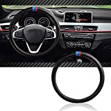 InSassy Steering Wheel Cover M Sport Carbon Fiber Look for BMW Series Cars - Motorsport Edition Accessories