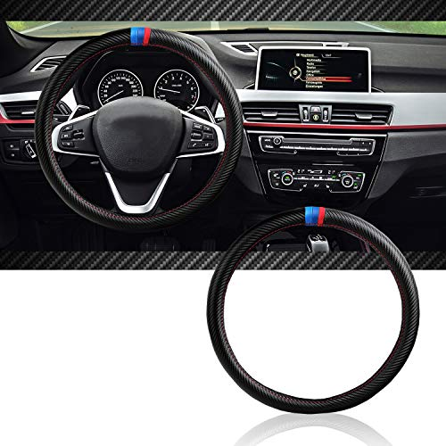 InSassy Steering Wheel Cover M Sport Carbon Fiber Look for BMW Series Cars - Motorsport Edition Accessories Bmw Steering Wheel Cover