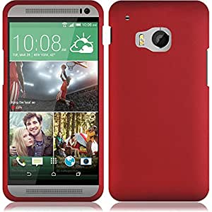 HR Wireless HTC One M9 - Rubberized Design Case - Carrying Case - Retail Packaging - Red