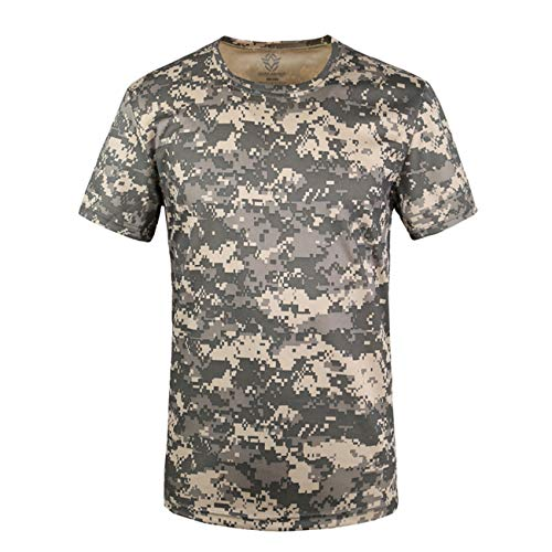 - Military Ba Men's Crewneck Undershirts-US S-ACU Digital