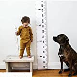 "Growth Chart Kids, Arichman 79"" x 7.9"" Roll-up Canvas Height Chart Children Measurement Ruler For Room Decor Bonus a Utility Hook"