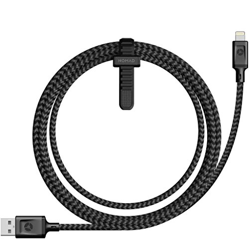 Nomad iPhone Charger Lightning Cable(1.5 Meter)-Ballistic Nylon Core- Apple MFi Certified- Compatible with iPhone X/8/8Plus/ 7/7Plus/ 6s/6Plus/6/5/5s /iPad