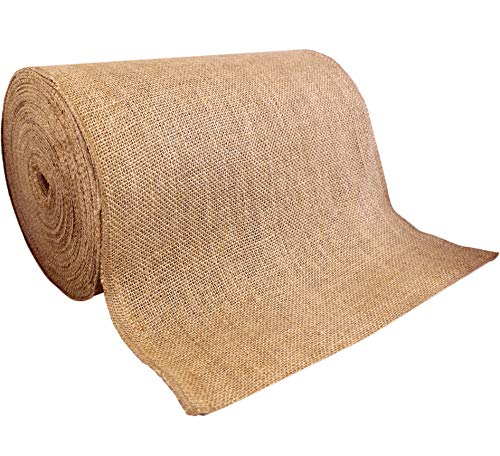14 x 50yd NO-FRAY NO-Mess Burlap Table Runner Roll ~ 14 Wide x 50 Yards Long Table Runner Fabric w/Finished Edges. Perfect for Weddings, Placemat, Crafts. Decorate Without The Mess!