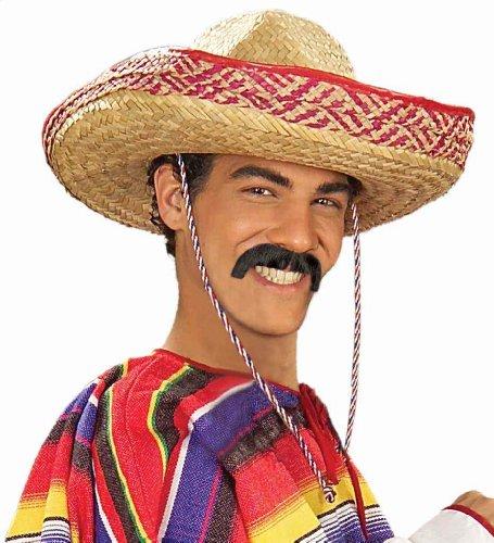 [Forum Novelties Men's Handmade Pancho Villa Mustache, Brown, One Size] (Pancho Villa Costumes)
