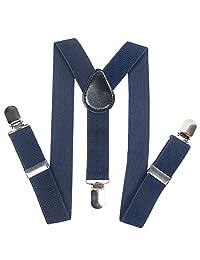 Homieco™ Children's Adjustable Elastic Solid Color Suspenders Navy