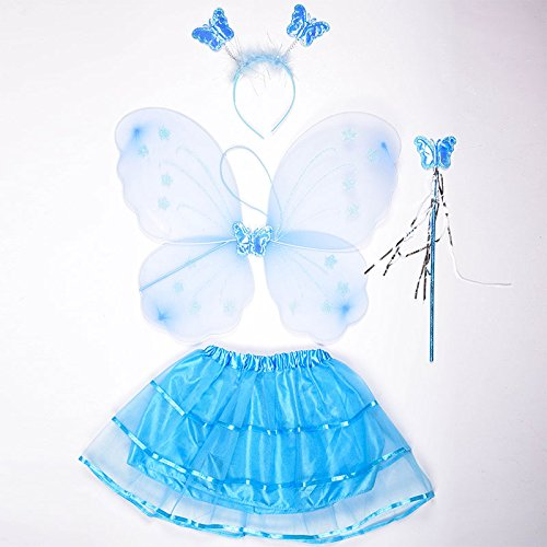 Angel Feather Wing - 3pcs Set Cute Butterfly Wing Headband Wand Party Diy Cosplay Costume Ballet Dance Clothing - Decorations Party Party Decorations Stick Fairy Ballet Birthday Girl -