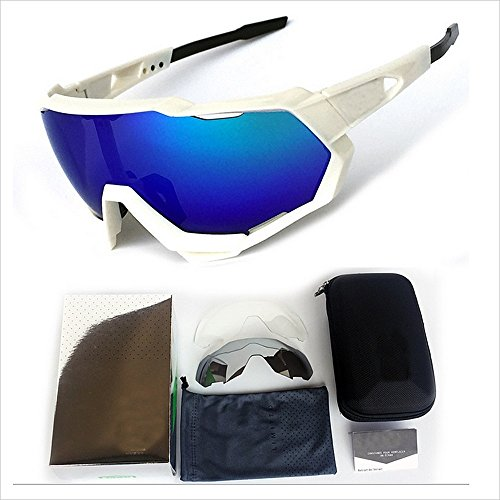 Crystalzhong Sport Sunglasses Polarized Sports Sunglasses Full Frame Colorful PC Lens Durable Men Women Outdoor Seaside Travel Fishing Driving Riding Climbing UV Men + Women for $<!--$38.18-->