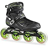 Rollerblade 2015 TEMPEST 110C Premium Fitness/Race Skate with 4x110mm US Made Hydrogen Wheels - HTO PRO Super Precise Bearings