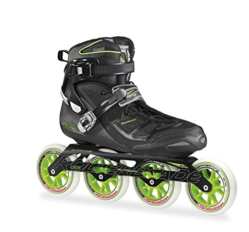 Rollerblade 2015 Tempest 110C Premium Fitness Race Skate with 4x110mm US Made Hydrogen Wheels – HTO PRO Super Precise Bearings