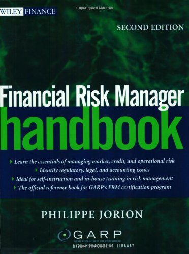 Financial Risk Manager Handbook, Second Edition