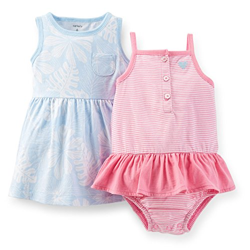 Carter's Baby Girls Dress & Bodysuit Set (12 Months, Pink - Baby Posh Girl
