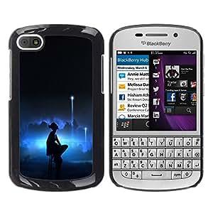 EJOY---Cubierta de la caja de protección la piel dura para el / BlackBerry Q10 / --Bailarina de Lonely