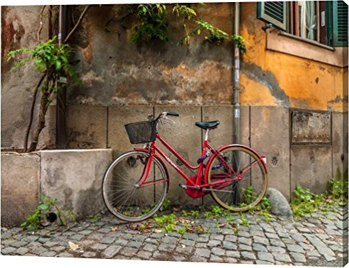 Bicycle outside old building, Rome, Italy by Assaf Frank - 24