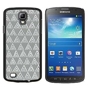 Caucho caso de Shell duro de la cubierta de accesorios de protección BY RAYDREAMMM - Samsung Galaxy S4 Active i9295 - patrón de polígono gris minimalista blanco