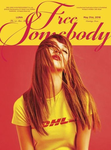 F(X) LUNA [FREE SOMEBODY] 1st Mini Album CD+48p Photobook+Card FX+Tracking Number K-POP SEALED