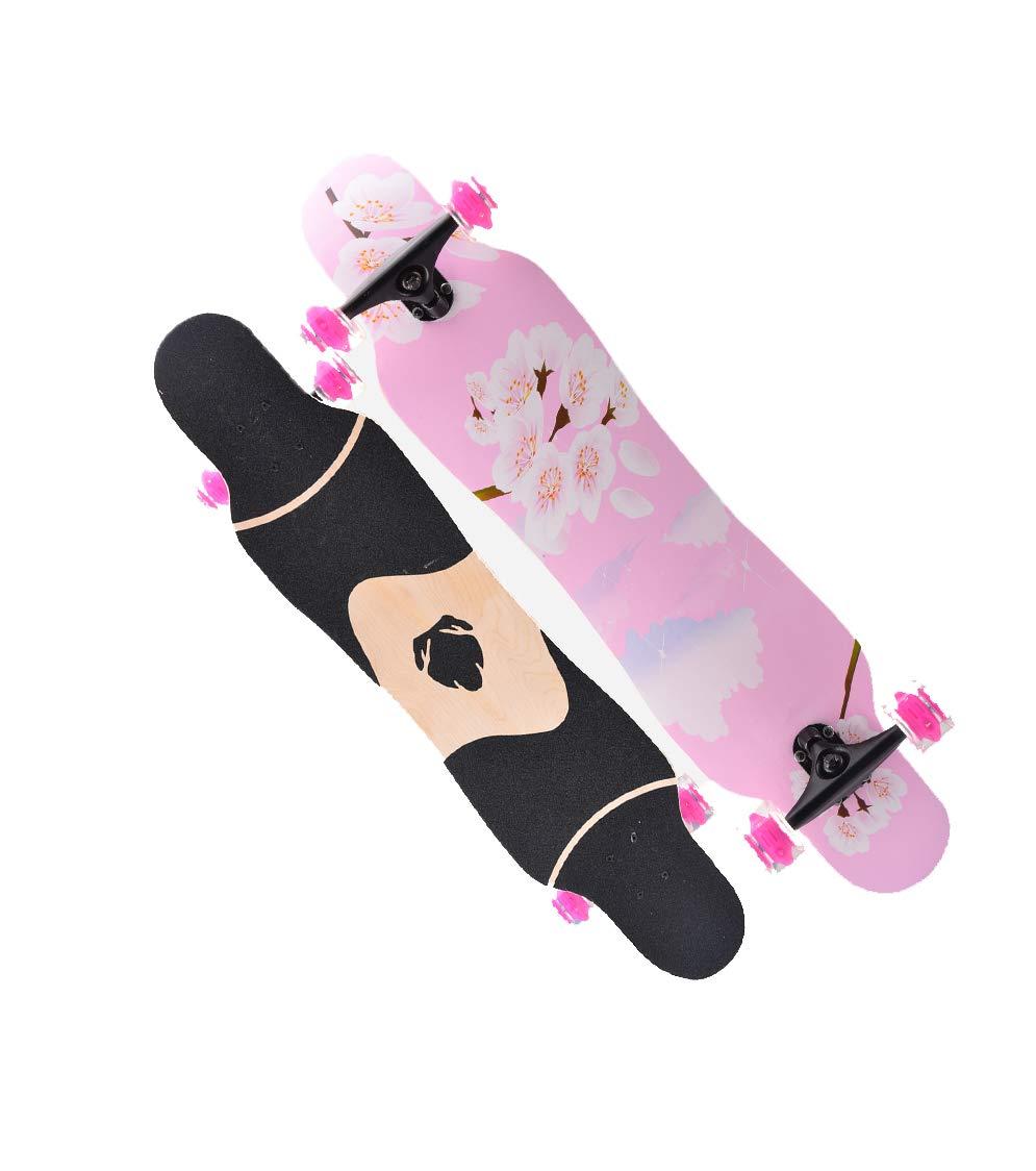【最安値に挑戦】 ZX 専門家 スケートボード アダルト アダルト 四輪車 初心者 Pink 若者 B07H29ZMRV メープル ハイウェイ ブラシストリート ダンスボード 男性と女性 ダブルチルト ロングボード (色 : Hawaii) B07H29ZMRV Pink cherry Pink cherry, 私元気ウィッグかつら専門店:b60e387d --- a0267596.xsph.ru