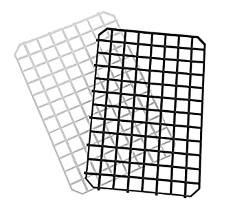 Gl/äserabtropfmatte schwarz 30 x 20 cm 4 St/ück steckbar