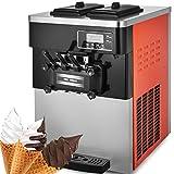 VEVOR Ice Cream Machine Commercial 2200W Soft Serve Ice Cream Machine 20-28L/5.28-7.4Gallon Per Hour LCD Display Ice Cream Maker Machine with 3 Flavor 110V (01)