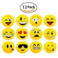 "12"" Emoji Party Pack Inflatable Beach Balls - Beach Pool Party Toys (12 Pack)"