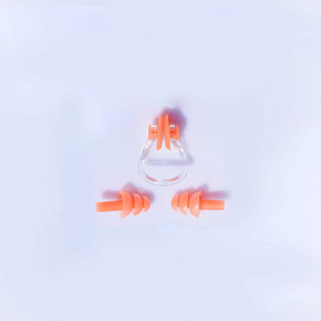 NoyoKere Clip de nariz para nataci/ón y hongos tapones para los o/ídos suave de silicona a prueba de agua proteger cavidad nasal protector de nariz de ojos deportes de agua conjunto de herramientas