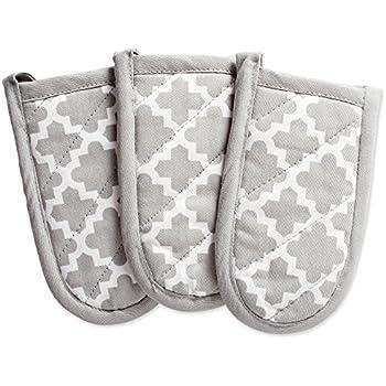 DII Cotton Lattice Pan Handle Holders, 6 x 3