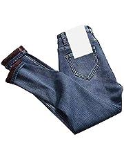 Fnsky Thermische jeans voor dames, dikke warme skinny jeans, hoge taille, rekbare fleece gevoerde broek legging voor dames, herfst winter