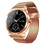 K88H Fitness Tracker Smart Watch Plus Bluetooth IP67 Waterproof Heart Rate Monitor Pedometer Sport Health Smart Watch for iPhone/Android/iOS (Gold)