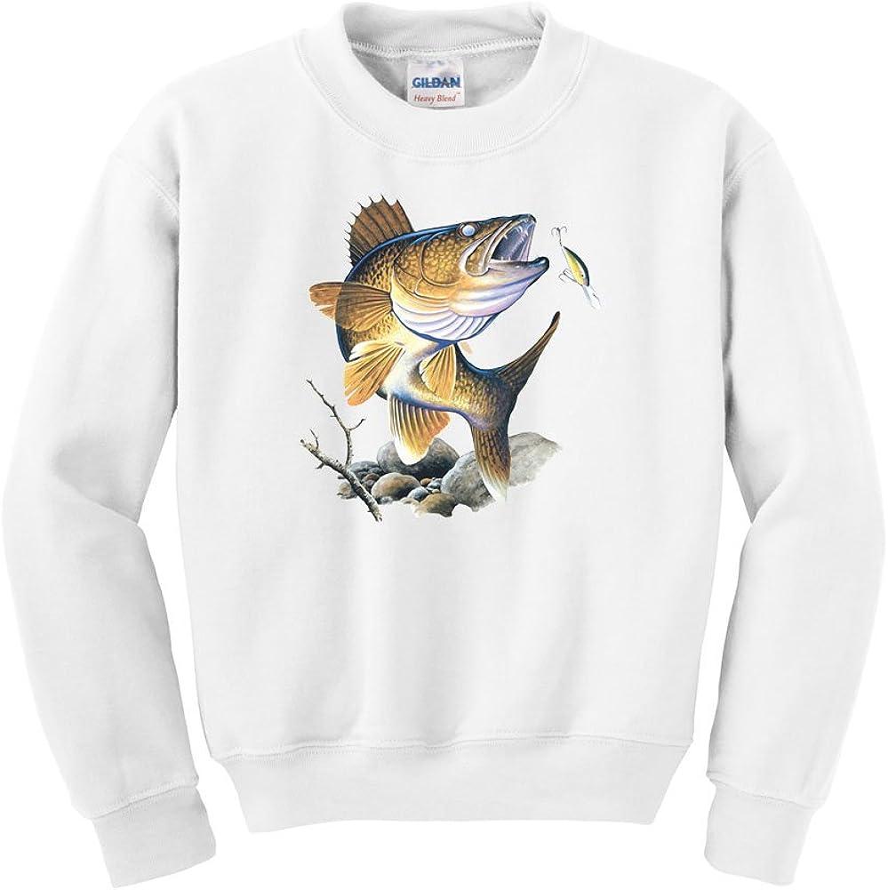 Express Yourself Walleye Crew Neck Sweatshirt Mens Sizing