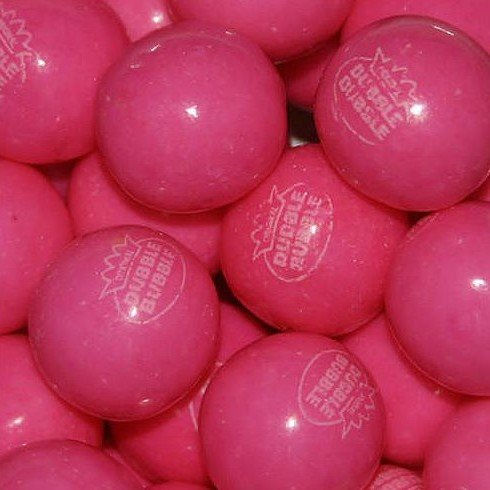 Dubble Bubble Pink Lemonade 24mm Gumballs 1 Inch, 2 Pounds Approximately 110 Gum Balls. (Lemonade Gumballs)