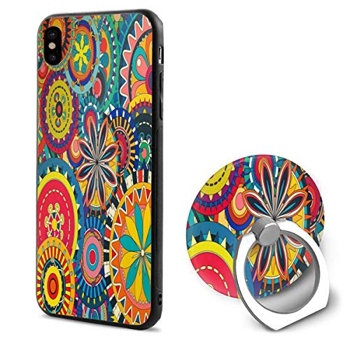 iPhone X Case Floral Desktop Wallpapers iPhone X Mobile Phone Shell Ring BracketTrendy -