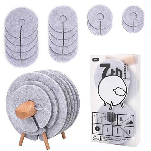 Coasters for Drinks | Absorbent Set of 14 PCS |Funny Felt Cups Mugs Mats with Deer Shaped Wood Holder | Decoration for Car Restaurant Home Office Bar | Housewarming Gifts (SHEEP)