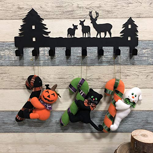 Halloween Hanging Toys, Halloween Party Supplies Favors Pumpkin, Black Cat, Ghost Doll for Door Yard Patio Lawn Garden Ornaments 3 Pack