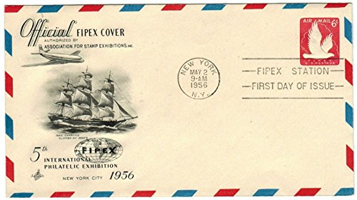 FDC Art Craft Airmail UC25 May 2, 1956 Postally Unaddressed Ships from US Seller