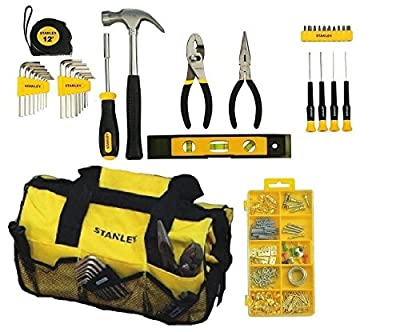 Stanley STMT74101 Mixed Tool For Home Repair Set, 38 Piece (Tool Kit w/ bag)
