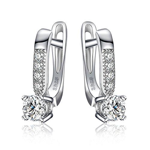 JewelryPalace Pendientes Colgantes Con 1ct Zirconia cúbica Plata de ley 925 a buen precio