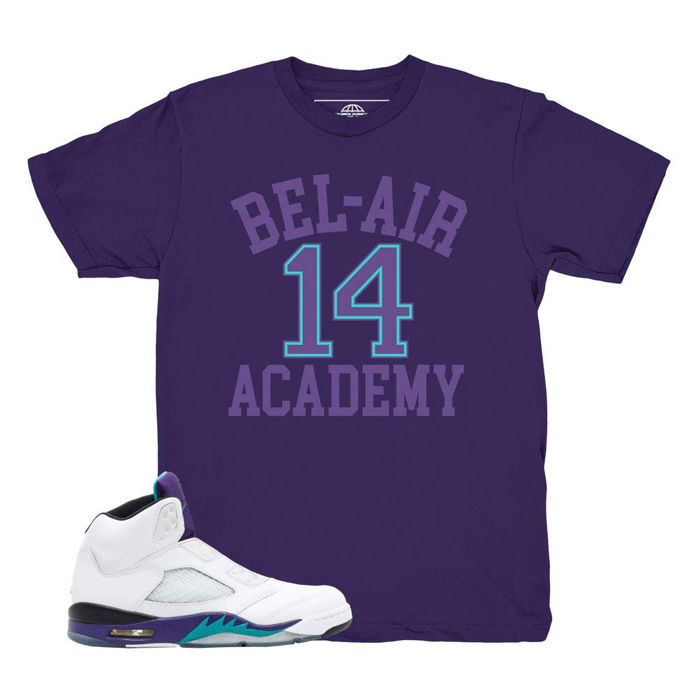 87184bc02f00b9 Grape 5 Fresh Prince Bel Air Purple Shirt to Match Jordan 5 Grape Fresh  Prince Sneakers