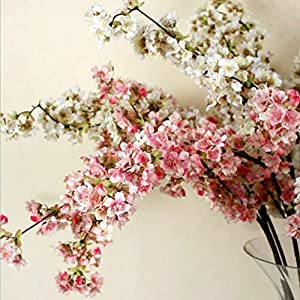 Ahvoler Artificial Cherry Blossom Branches Flowers Stems Silk Tall Fake Flower Arrangements Home Wedding Decoration,39 Inch 2