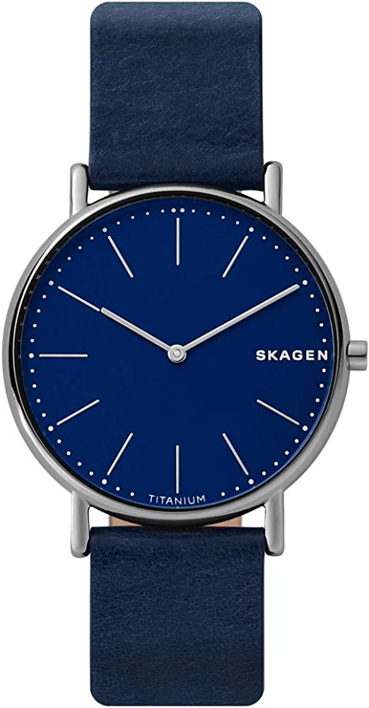 Skagen Reloj Analógico para Hombre de Cuarzo con Correa en Cuero SKW6481