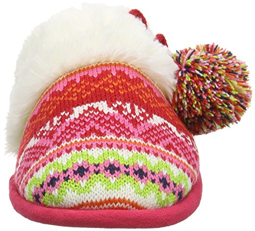 Combo Foam Fairisle Femme Poms Scuff Toe Closed Dearfoams bright And Pantoufles Memory 10977 With Multicolor 8AqFvOvnw