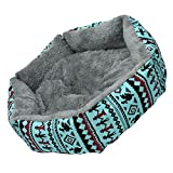 ReFaXi 1x Pet Dog Cat Bed Simple Puppy Cushion Room Warm Kennel Dog Pad Blanket New (Blue)