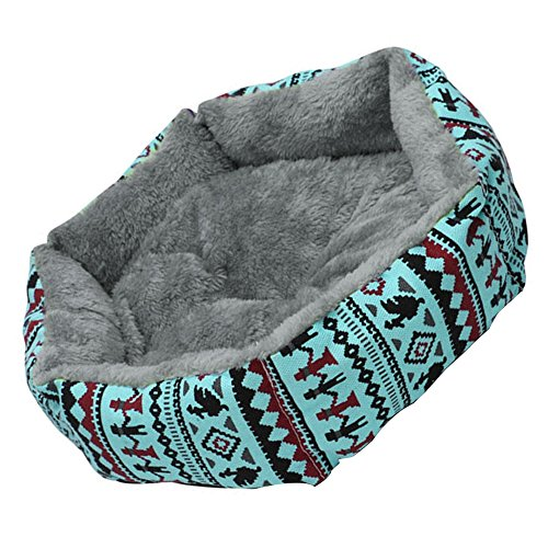 ReFaXi 1x Pet Dog Cat Bed Simple Puppy Cushion Room Warm Kennel Dog Pad Blanket New (Blue) by ReFaXi (Image #5)